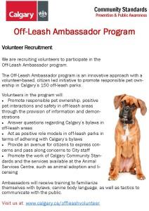 Off Leash Ambassador volunteers